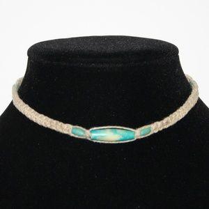 """Vintage hemp choker necklace 13"""""""